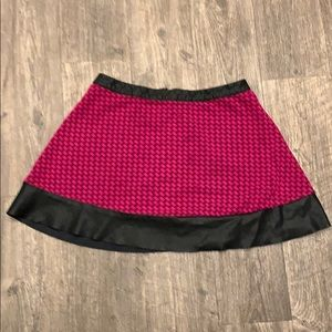 Candies Magenta and Faux Leather Skirt